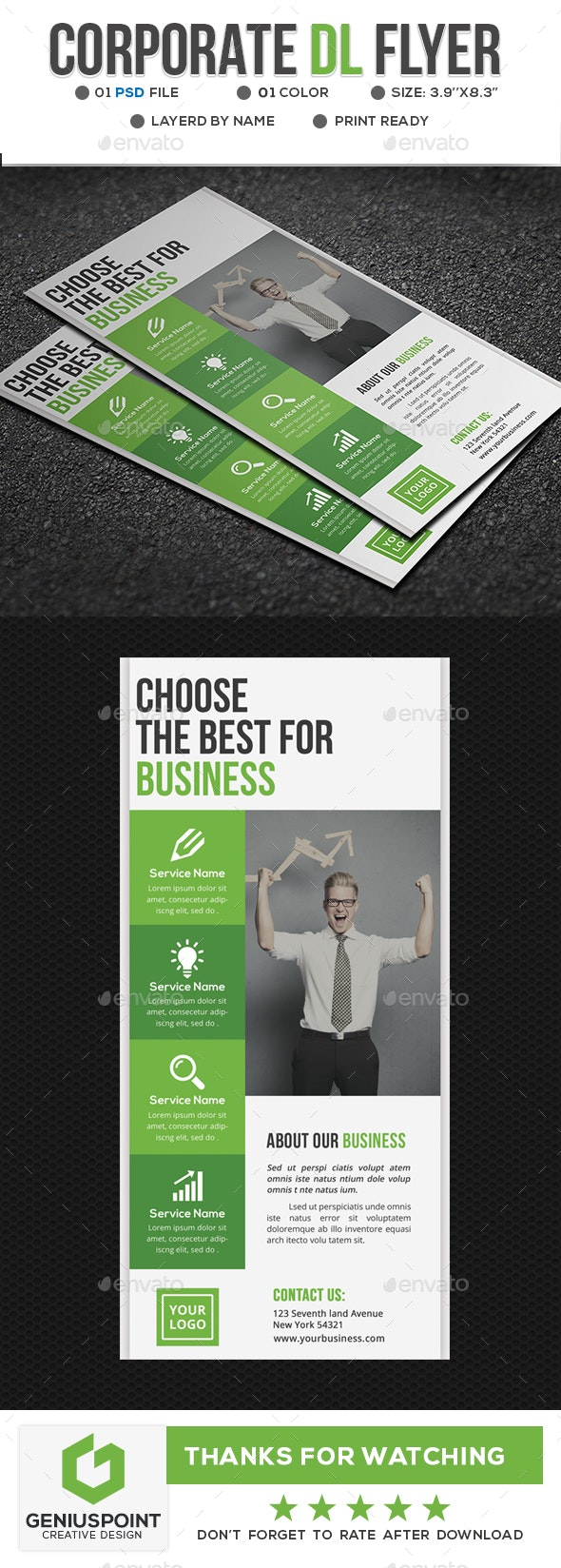 Corporate DL Flyer - Flyers Print Templates