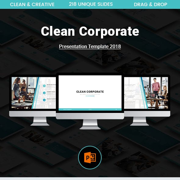 Clean Corporate Powerpoint Template 2018