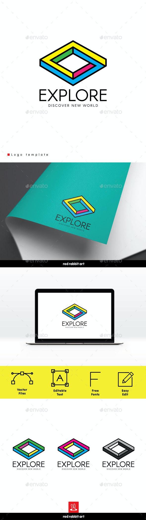 Explore Logo - Abstract Logo Templates