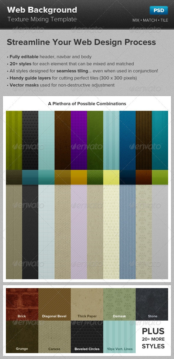 Web Background Texture Mixing Template - Backgrounds Graphics