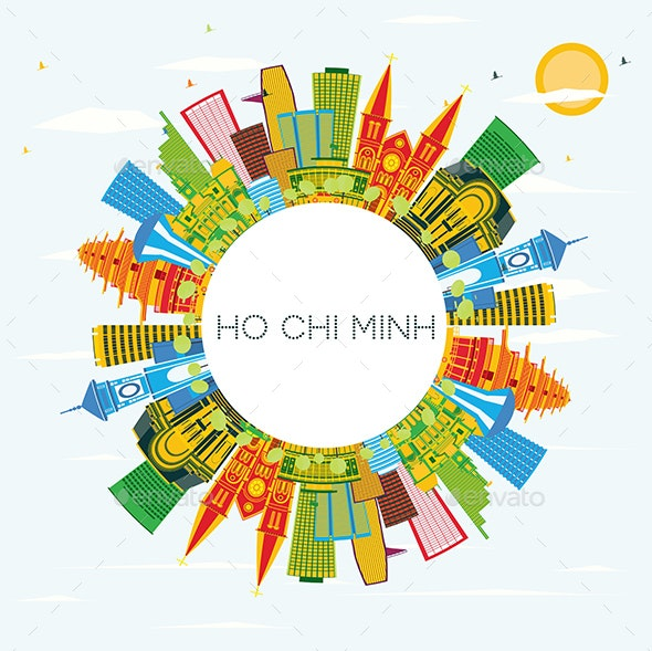 Ho Chi Minh Skyline with Color Buildings - Buildings Objects