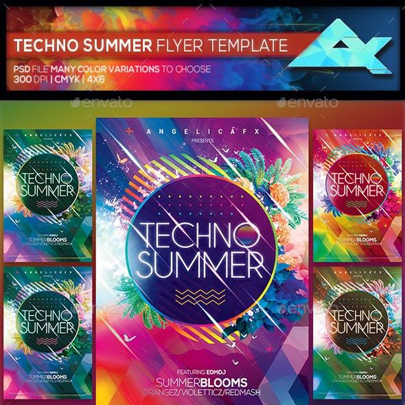 Techno Summer Flyer Template