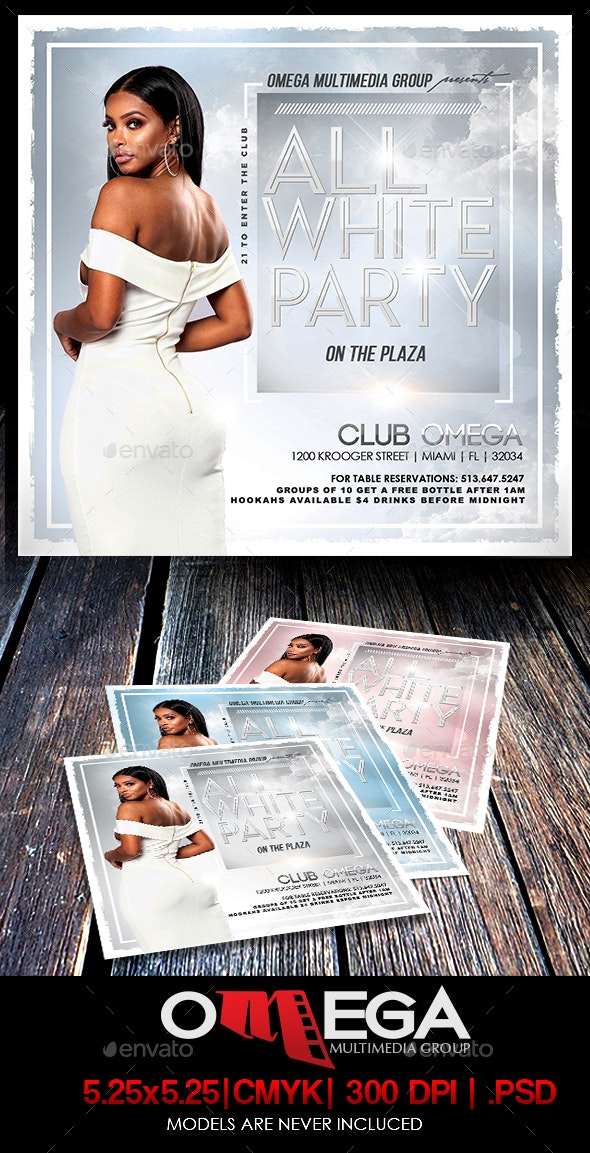 All White Party - Events Flyers
