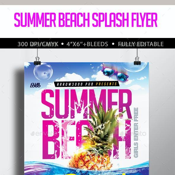 Summer Beach Splash Flyer