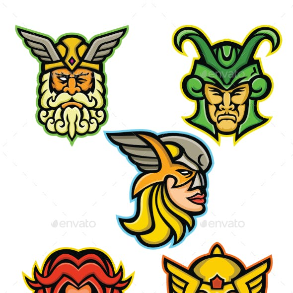Norse Gods Mascot Collection
