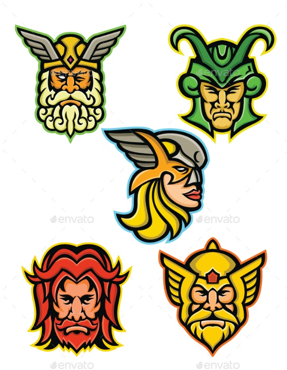 Norse Gods Mascot Collection - People Characters