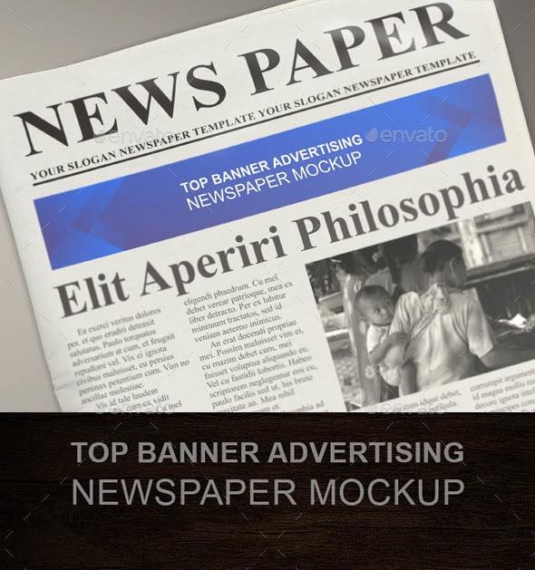 Top Banner Advert Newspaper Mockup - Miscellaneous Print
