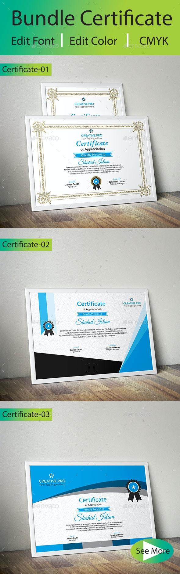 Bundle Certificate-3 - Certificates Stationery
