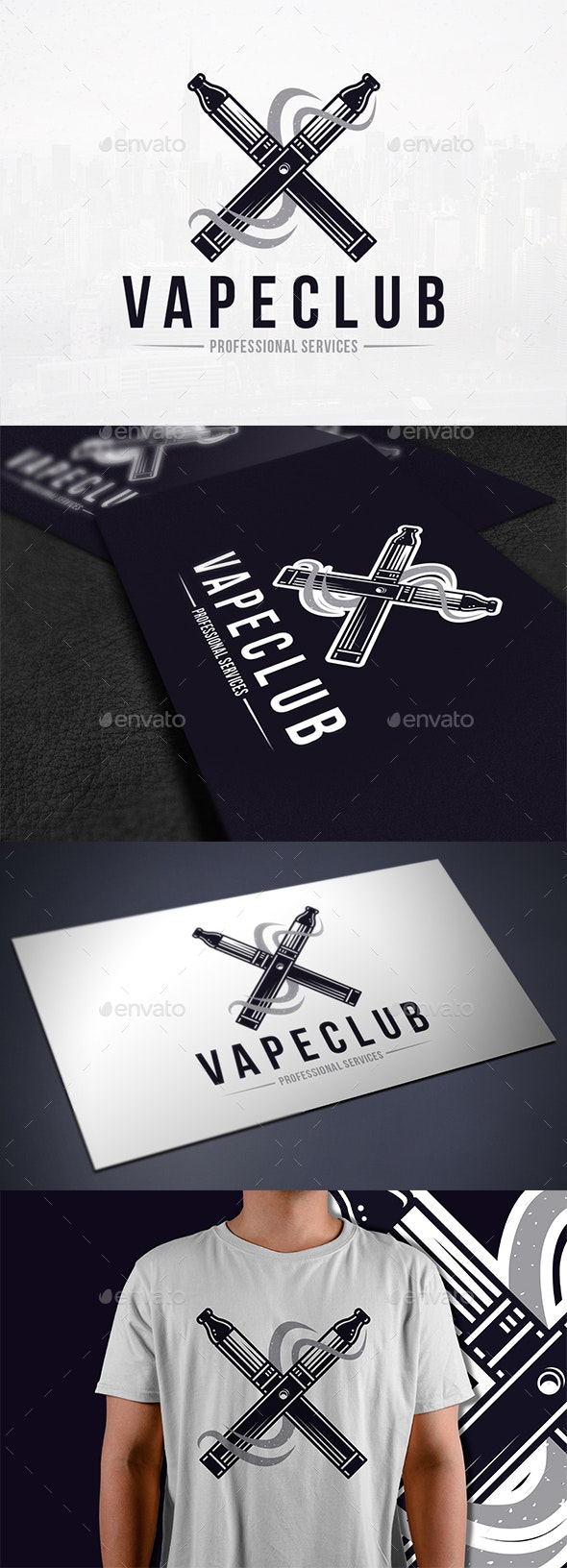 Vape Club Logo Template - Objects Logo Templates