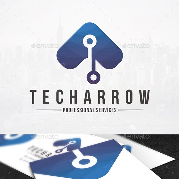 Tech Arrow Logo Template
