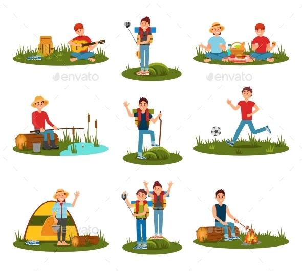 Summer Outdoor Activities. Kid Playing Football - Nature Conceptual