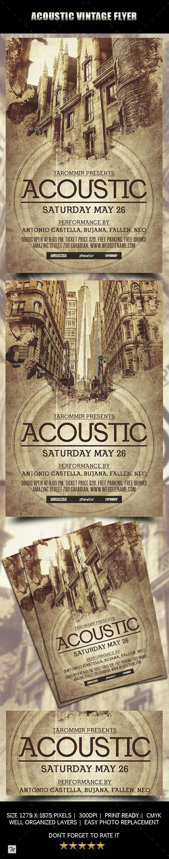 Acoustic Vintage Flyer - Concerts Events