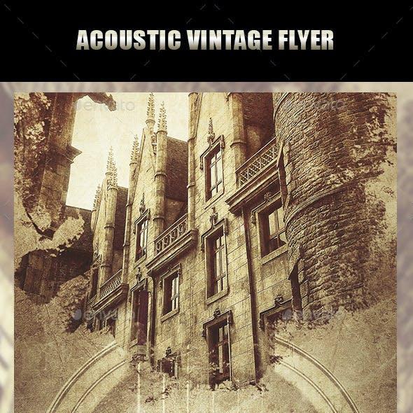 Acoustic Vintage Flyer
