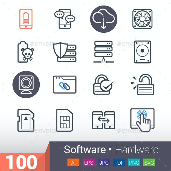 Software & Hardware Icons