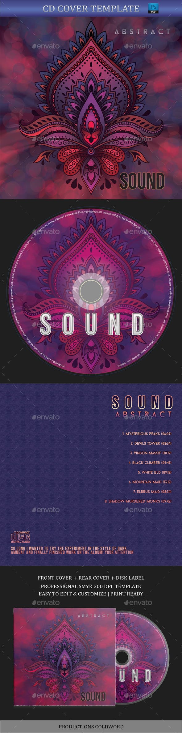 Abstract CD Cover Artwork Template