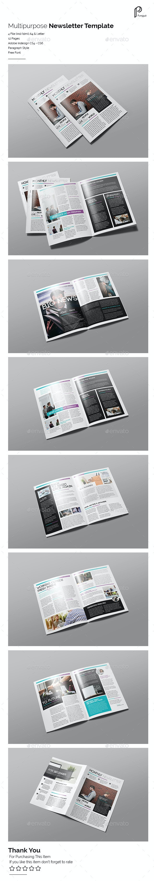 Multipurpose Newsletter Vol.5 - Newsletters Print Templates