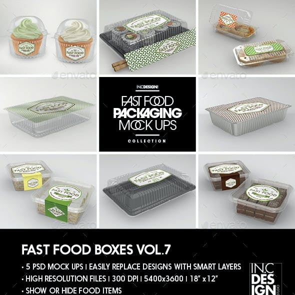 Fast Food Boxes Vol.7:Take Out Packaging Mock Ups
