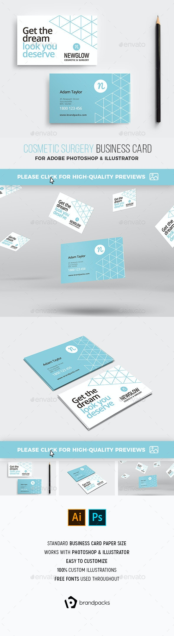 Cosmetic Business Card Template - Industry Specific Business Cards