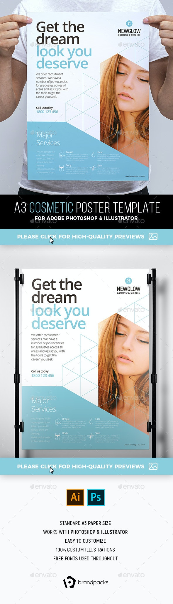 Cosmetic Poster Template - Corporate Flyers