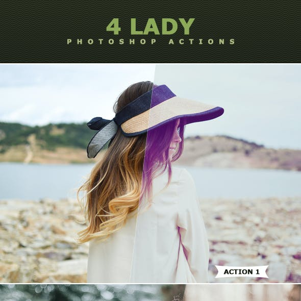 Lady Photoshop Actions