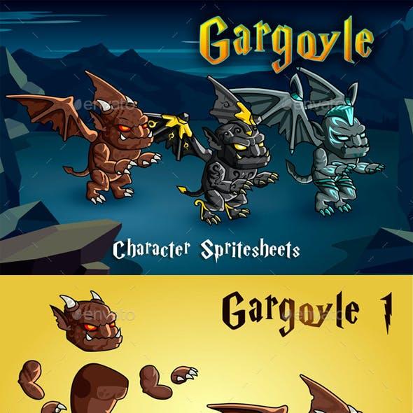 Gargoyle 2D Game Character Sprite Sheet