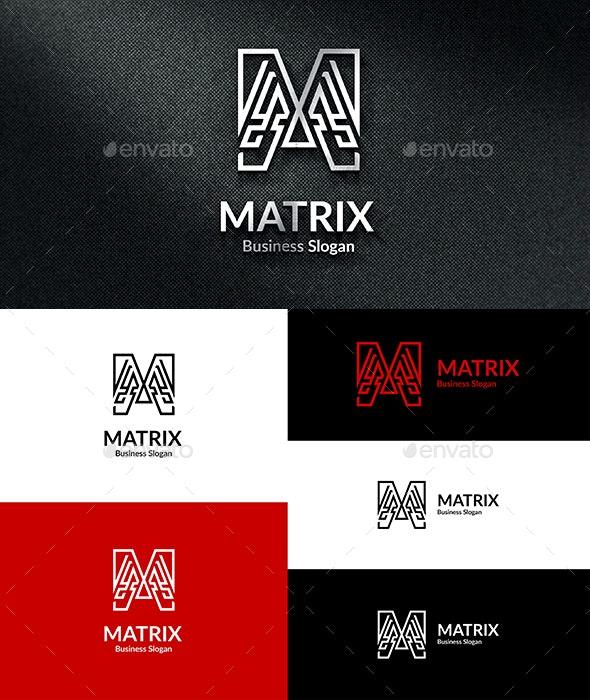 Matrix M Logo - Letters Logo Templates