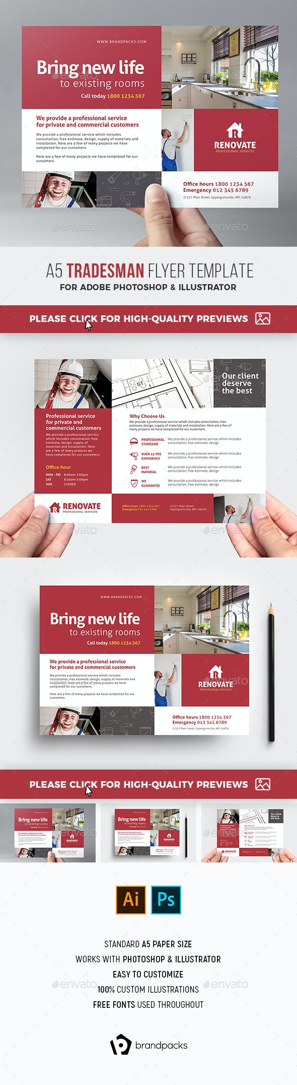 Tradesman Flyer Template - Corporate Flyers