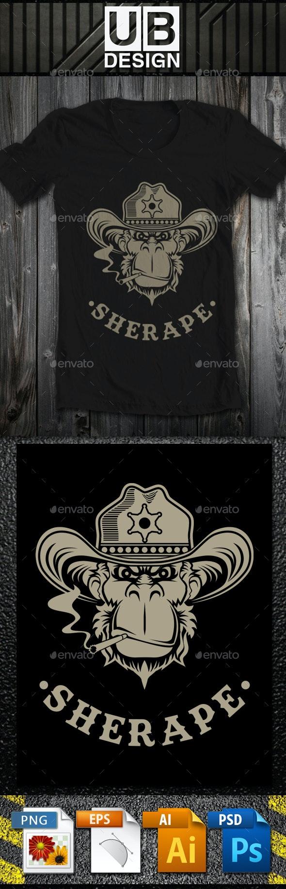 Sherape Illustration - T-Shirts
