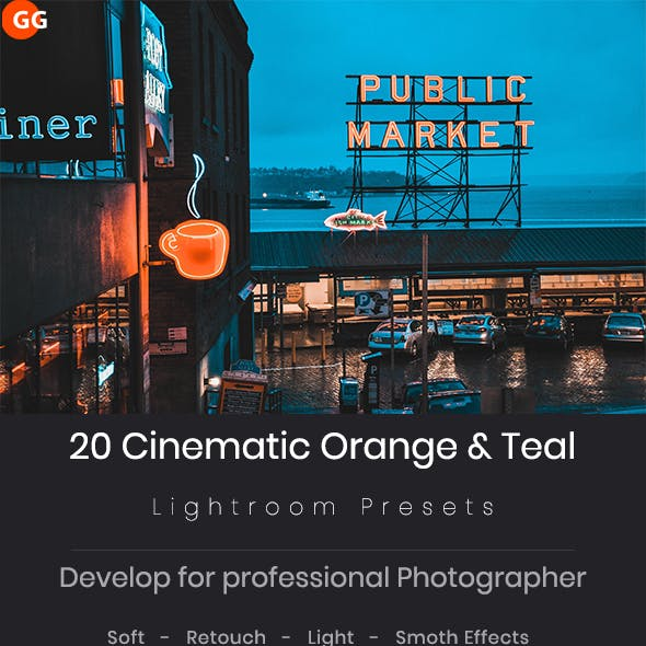20 Cinematic Orange & Teal Look Lightroom Preset V6