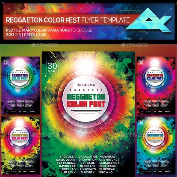 Reggaeton Summer Fest Flyer Template