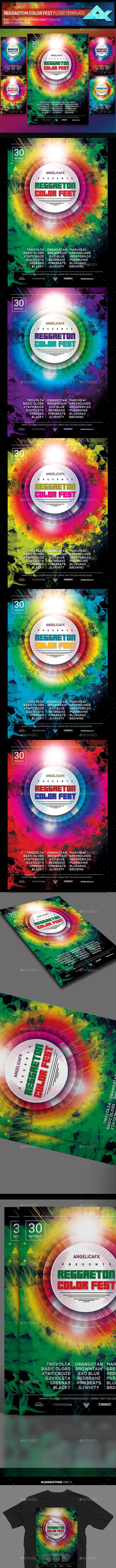 Reggaeton Summer Fest Flyer Template - Events Flyers