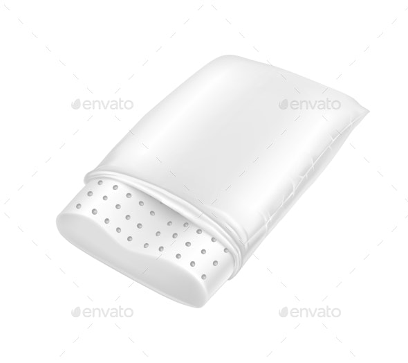 Vector Realistic White Orthopedic Latex Pillow - Man-made Objects Objects