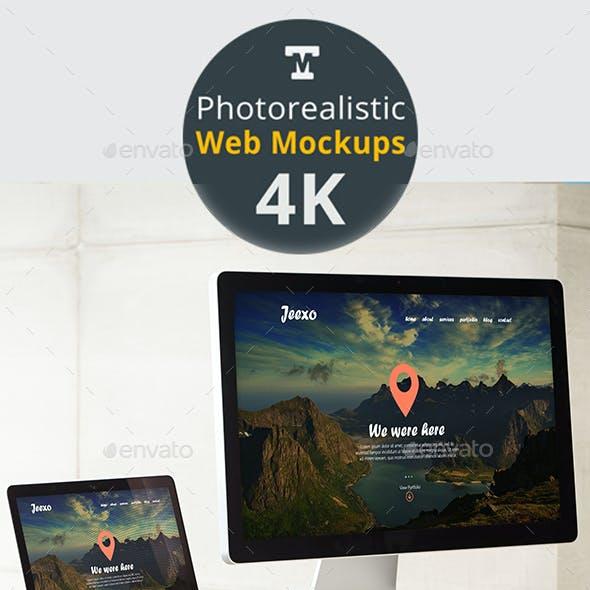 Photo-realistic Responsive Web Mockups 4K