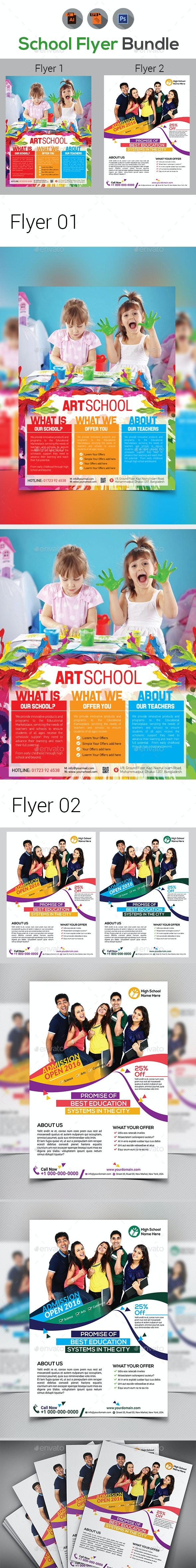 School Flyer Bundle - Corporate Flyers