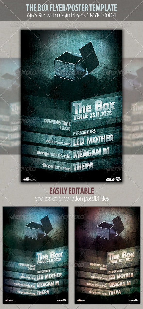 The Box Flyer Template - Clubs & Parties Events
