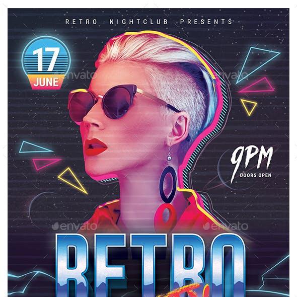 80's Retro Party Flyer