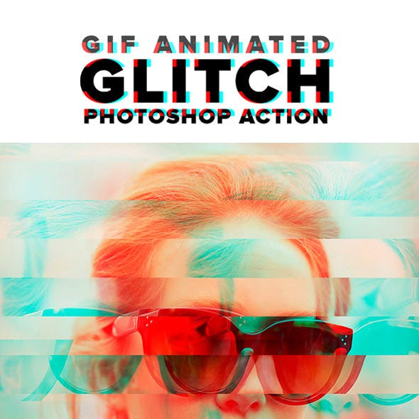 Gif Animated Glitch Photoshop Action