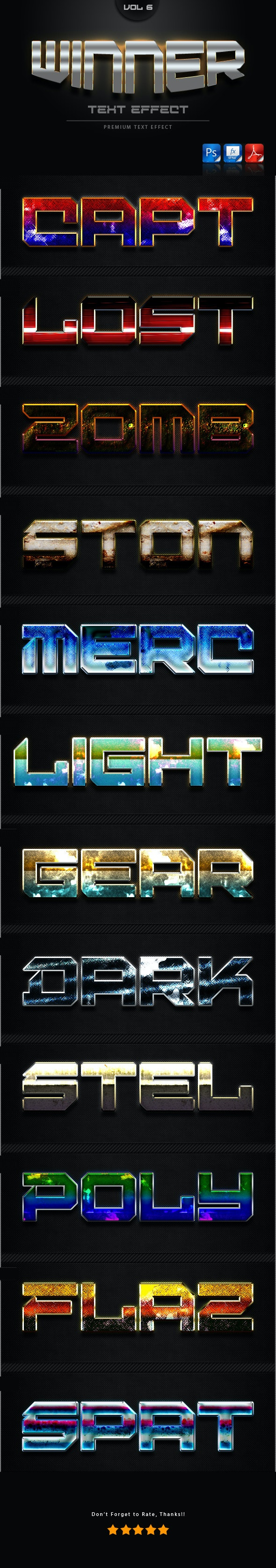 Winner Text Effect Styles Vol 6 - Text Effects Styles