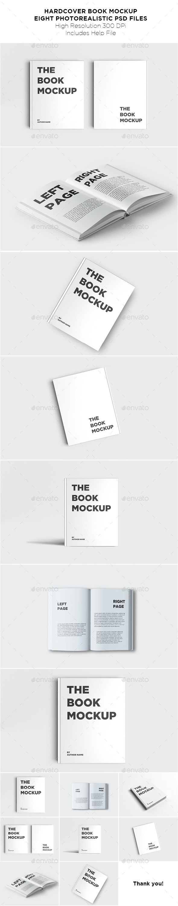 Hardcover Book Mockup - Books Print