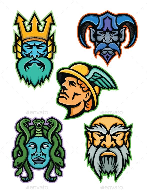 Greek Mythology Gods Mascot Collection - People Characters