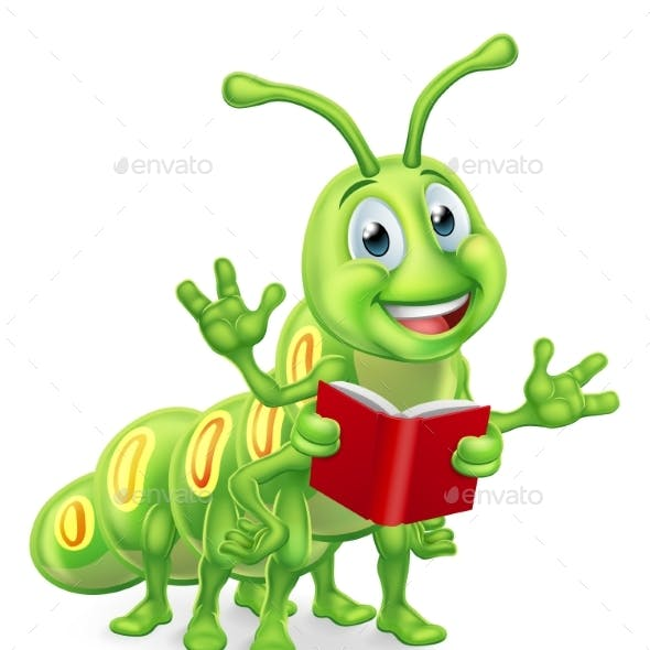 Caterpillar Bookworm Worm Reading