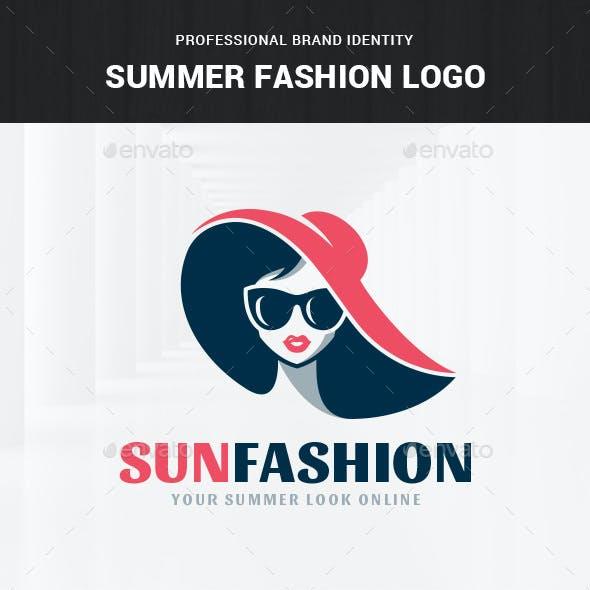 Summer Fashion Logo Template