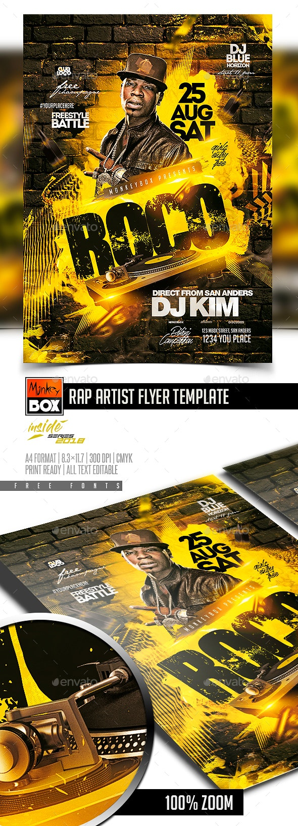 Rap Artist Flyer Template - Flyers Print Templates