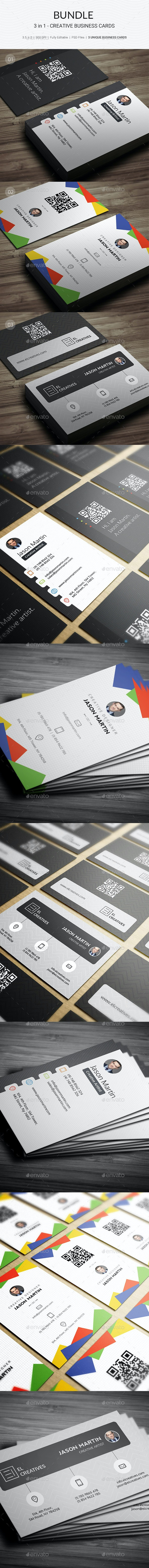 Bundle - 3 in 1 - Prime Business Cards - 179 - Creative Business Cards