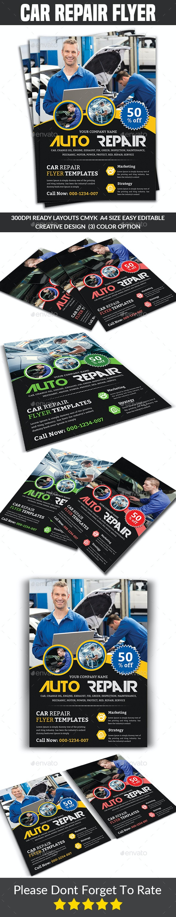 Car Repair Flyer - Corporate Flyers