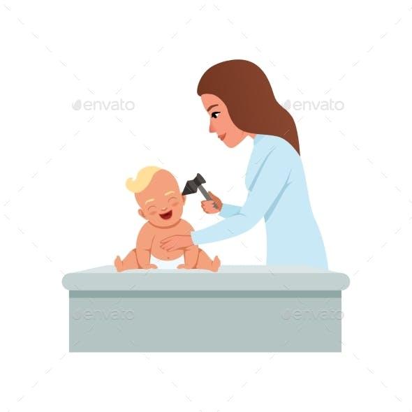 Female Pediatrician in White Coat