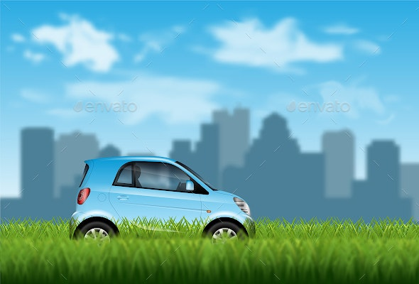 Eco Car Concept - Backgrounds Business