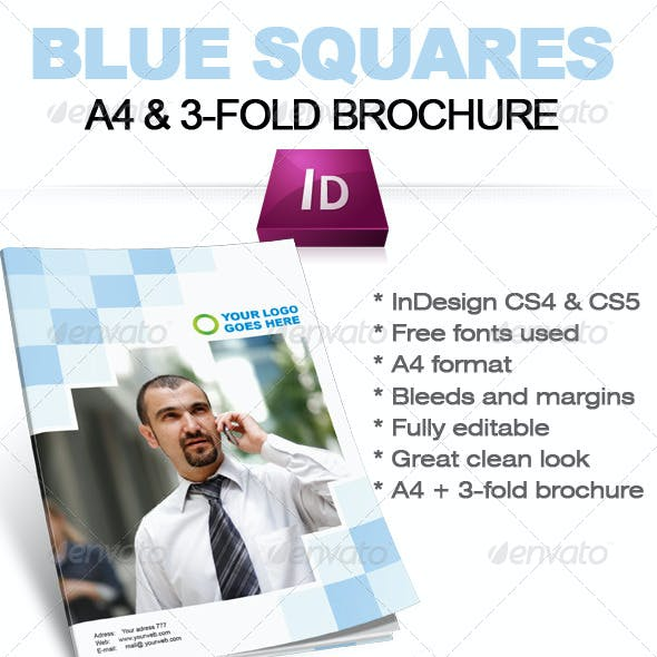 Blue Square Business Brochure (A4 + 3-fold format)