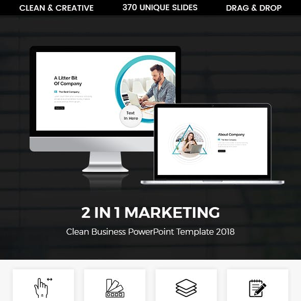 Bundle 2 In 1 Marketing Business Presentation Template