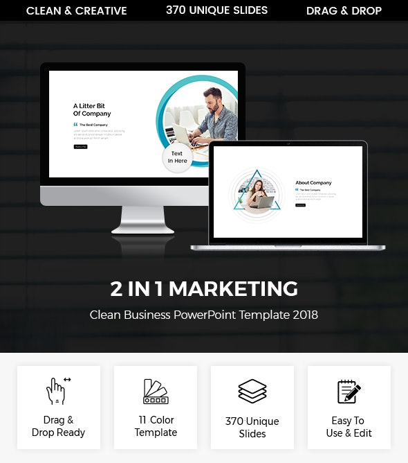 Bundle 2 In 1 Marketing Business Presentation Template - Business PowerPoint Templates
